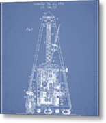 1903 Electric Metronome Patent - Light Blue Metal Print