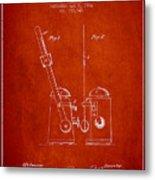 1904 Metronome Patent - Red Metal Print