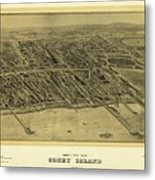 1906 Bird's Eye View Coney Island Metal Print