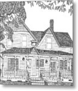 1906 Victorian Farmhouse Metal Print