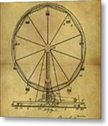 1907 Ferris Wheel Patent Metal Print
