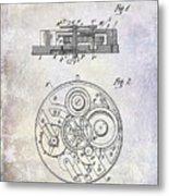 1908 Pocket Watch Patent  Metal Print