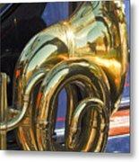 1910 Pope Hartford T Brass Horn Metal Print