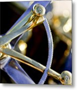 1910 Pope Hartford T Steering Wheel 2 Metal Print