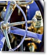 1910 Pope Hartford T Steering Wheel Metal Print