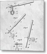 1913 Wrench Patent Illustration Metal Print