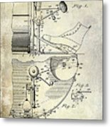 1914 Drum And Cymbal Patent Metal Print