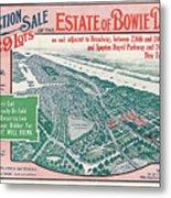 1915 Bronx Lots Sale Flyer Metal Print