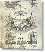 1916 Merry Go Round Patent Metal Print