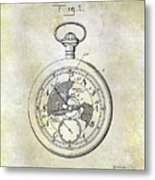1916 Pocket Watch Patent Metal Print