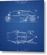 1917 Racing Vehicle Patent - Blueprint Metal Print