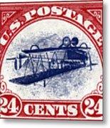 1918 Inverted Jenny Stamp Metal Print