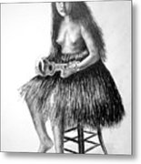 1919 Hawaiian Girl Metal Print