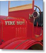 1919 Volunteer Fire Truck Metal Print