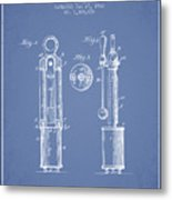 1920 Tuning Fork Patent - Light Blue Metal Print