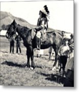 1920s Native And Crowd Metal Print