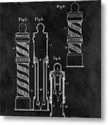 1921 Barber Pole Illustration Metal Print