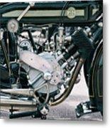 1921 P And M Motorcycle Metal Print