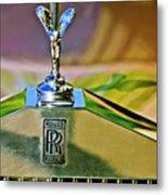 1921 Rolls-royce Silver Ghost Phaeton Hood Ornament Metal Print