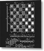 1923 Checkers And Chess Board Metal Print