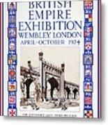 1924 British Empire Exhibition Wembley Metal Print