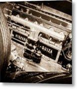 1924 Hispano-suiza H6b Dual  Cowl Sport Phaeton Engine Emblem -0258s Metal Print