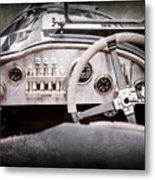 1925 Aston Martin 16 Valve Twin Cam Grand Prix Steering Wheel -0790ac Metal Print