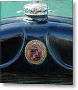 1925 Cadillac Hood Ornament And Emblem Metal Print
