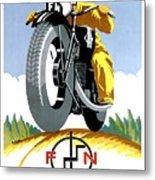 1925 Fn Motorcycles Advertising Poster Metal Print