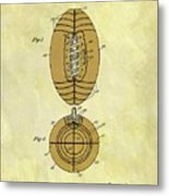 1925 Football Patent Metal Print