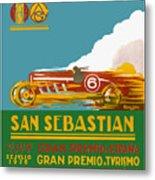 1926 San Sebastian Grand Prix Racing Poster Metal Print