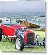 1927 Ford T Bucket Roadster 'on The Greens' Metal Print