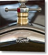 1927 Ford T Roadster Hood Ornament Metal Print