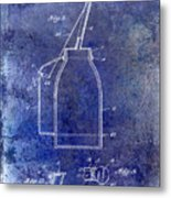 1927 Oil Can Patent Blue Metal Print
