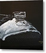 1928 Bentley Rad Cap Metal Print