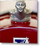 1928 Buick Custom Speedster Hood Ornament 2 Metal Print