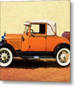 1928 Classic Ford Model A Roadster Metal Print
