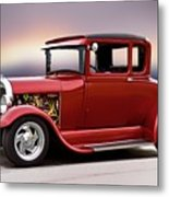 1928 Ford 'hot Rod A' Coupe Metal Print