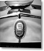 1929 Graham-paige Sport Roadster Emblem -0810bw Metal Print