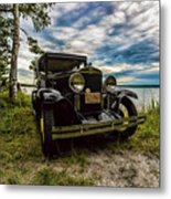 1930 Chevy On The Shore Of Higgins Lake Metal Print
