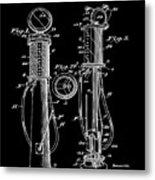 1930 Gas Pump Patent In Black Metal Print