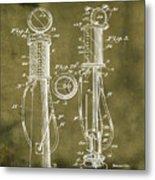 1930 Gas Pump Patent In Grunge Metal Print