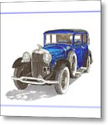 1930 Lincoln L Berline Metal Print
