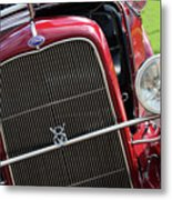 1930 Red Ford Model A-front-8886 Metal Print