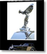 1930 Rolls Royce Mascot And Car Metal Print