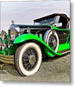 1930 Willys Knight 66b-plaidside Metal Print