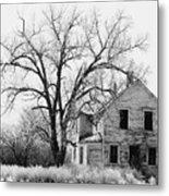 1930's Abandoned Farm House Near Aberdeen South Dakota 1965  Metal Print
