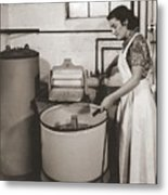 1930s State Of The Art Home Laundry Metal Print by Everett