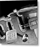 1931 Alfa Romeo 6c 1750 Gran Sport Aprile Spider Corsa Pedals -3689bw Metal Print