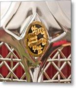 1931 Chrysler Cg Imperial Lebaron Roadster Grille Emblem Metal Print
